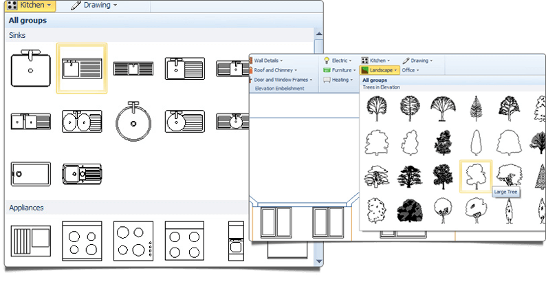 CAD software for builders and developers huge-symbol-library