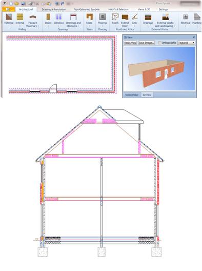 PlansXpress Building plan drawing tool unique-plansxpress-drawing-tools