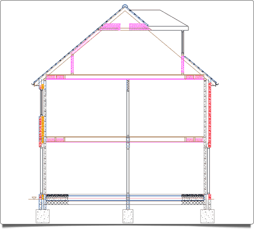 PlansXpress Building plan drawing tool  Add-cross-sections-quickly-easily