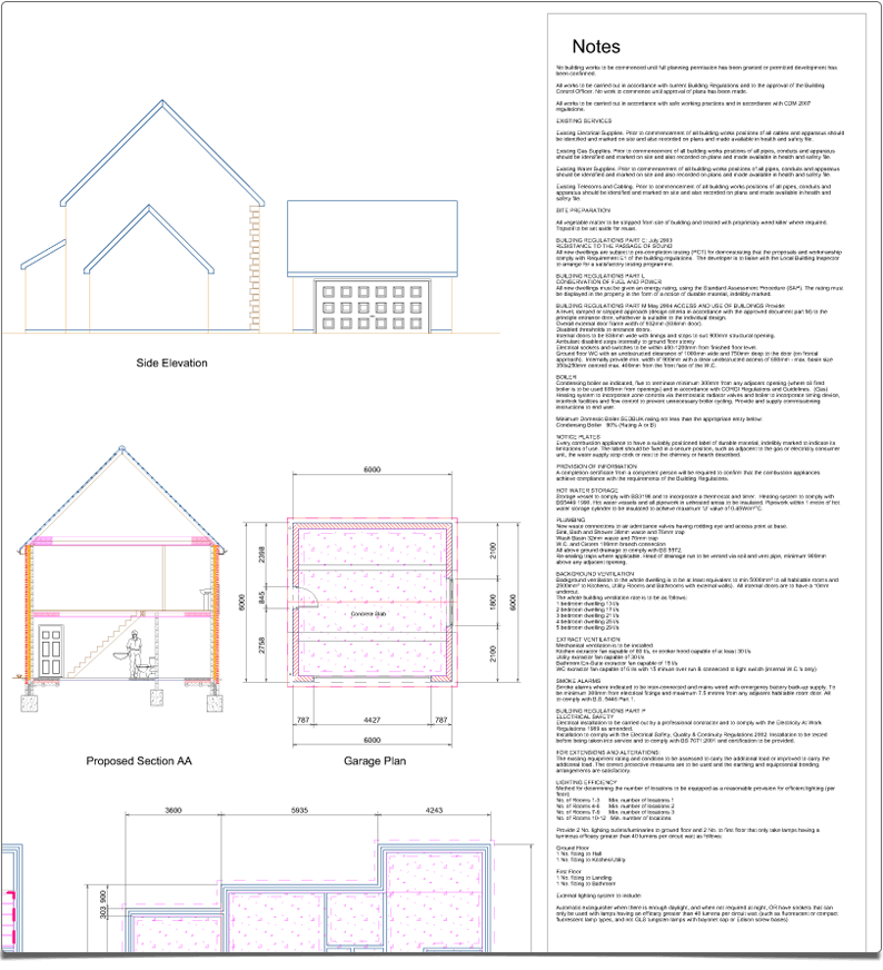 PlansXpress Building plan drawing tool add-notes-before-planning-application
