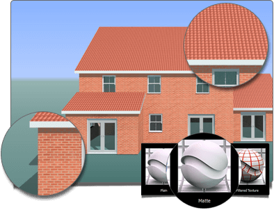 Building Plans 3D PhotoVisualiser Materials