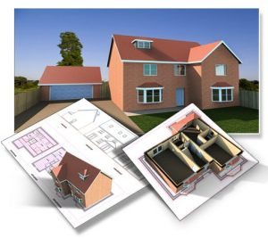 plans elevations 3D models